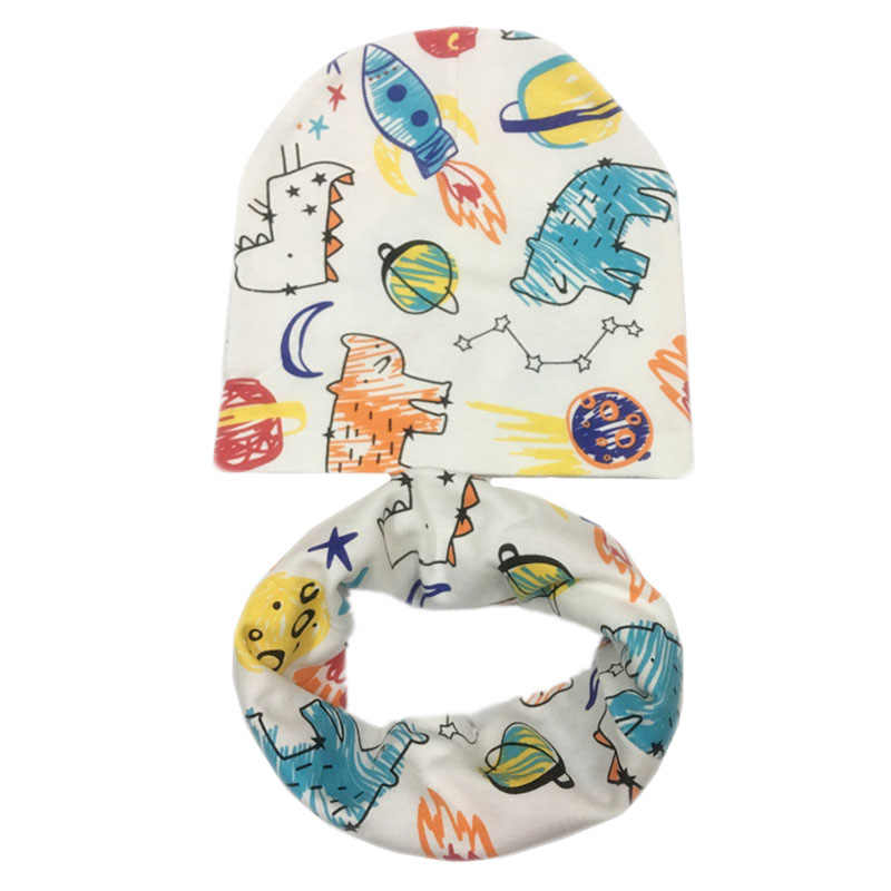 2a58292baac ... New Fashion Children Hat Scarf Autumn Winter Crochet Baby Hats Girls  Boys Cap Beanies Cotton Kids