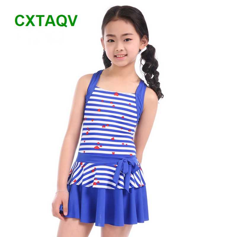 6095bba469 Detail Feedback Questions about Shoulder Strap Style Korean Version Striped  Love Baby Girls Swimwear Cute One Piece Swimdress Red, Navy, ...