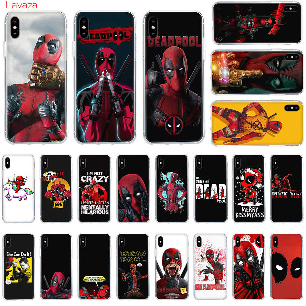 Lavaza Marvel Deadpool Anime funda de teléfono dura para Apple iPhone 6 6 s 7 8 Plus X 5 5S SE para iPhone XS Max XR cubierta