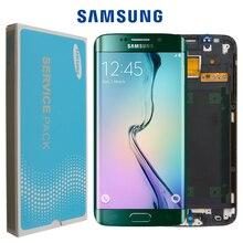 Оригинальный 5,1 дюймовый дисплей Super AMOLED для SAMSUNG Galaxy s6 edge LCD + рамка G925 G925F G925I сенсорный экран дигитайзер Замена