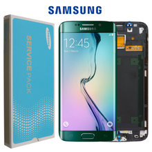 BAN ĐẦU 5.1 Super AMOLED dành cho SAMSUNG Galaxy S6 Edge MÀN HÌNH LCD + Khung G925 G925F G925I Bộ Số Hóa Màn Hình Cảm Ứng thay thế