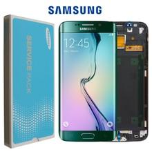 Oryginalny 5.1 wyświetlacz super amoled do SAMSUNG Galaxy s6 krawędzi LCD + rama G925 G925F G925I zamiana digitizera ekranu dotykowego