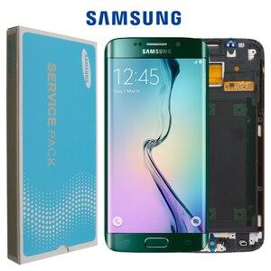 Image 1 - Oryginalny 5.1 wyświetlacz super amoled do SAMSUNG Galaxy s6 krawędzi LCD + rama G925 G925F G925I zamiana digitizera ekranu dotykowego