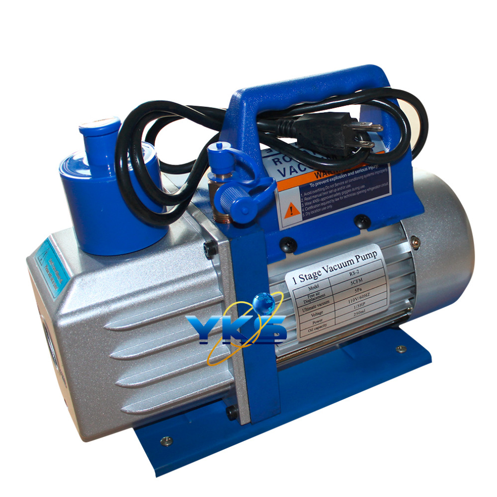 Professional 5CFM 1/3HP 1720RPM 110V Single Stage Rotary Vane Deep Vacuum Pump Air Conditioning Tool Hot Selling Ship from USA  4cfm 2016 dual stage rotary vane vacuum pump