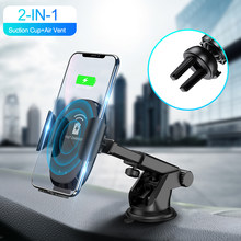 Qi Car Wireless Charger Infrared Sensor Automatic Fast Charging Phone Charger Holder for iPhone X Xs Max 8 Samsung S8 Note 8 9(China)