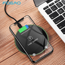 FDGAO 10W Qi Fast Wireless Charger For iPhone X XR XS MaX 8 Samsung Note 9 S8 S9 Plus S7 S6 Edge Phone Charging Pad Quick Charge