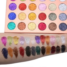 Explosion models global popular 24 color glitter eye shadow makeup disk girls shiny hot sale Send brush