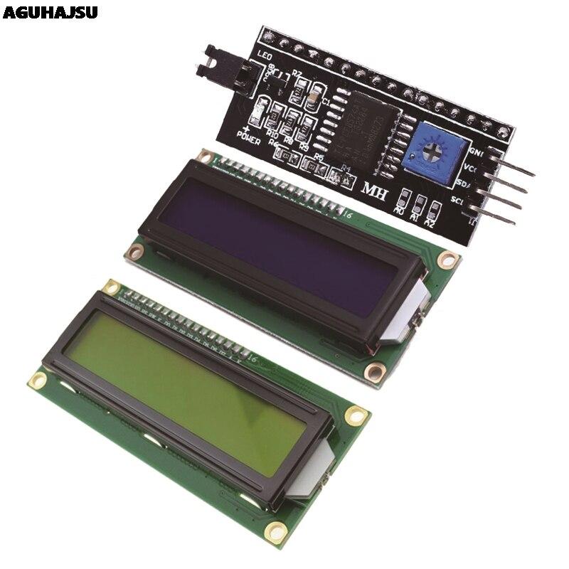 1 pçs/lote módulo LCD tela Verde Azul IIC/LCD1602 I2C 1602 para UNO r3 mega2560 arduino 1602 LCD