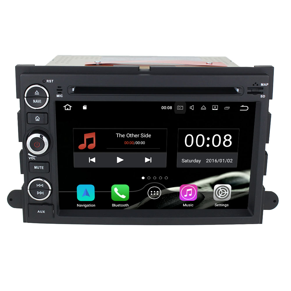 Android 7.1 Quad Core 2GB RAM 7'' 16GB ROM 2 DIN Car DVD Radio stereo Multimedia Navi for Ford Explorer/Edge/Expedition/Fusion