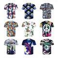 Nueva marca de moda clothing divertido espacio galaxy impreso 3d camiseta de los hombres/mujeres feminina harajuku psicodélico camiseta ocasional tee tops