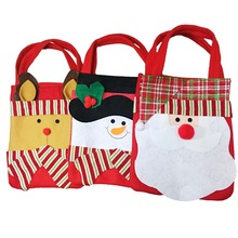 Christmas Gift Bags Santa Claus Snowman Elk Candy Gift Bag S