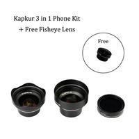 Объектив для телефона kappur, 3 в 1 комплект, HD 4 k объектив для телефона, Высококачественный объектив для камеры телефона для смартфона