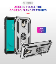 Auto Houder Magnetische Zuigkracht Armor Case voor Samsung Galaxy J7 J3 J4 2018 J4 J6 Plus J2 Pro J2 Core 2 in 1 Anti-klop Telefoon Cover(China)