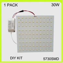 pcb ledシーリングライトボード22*22センチ220ボルト230ボルト240ボルト 30ワット表面実装led スクエア簡単インストール5730smd