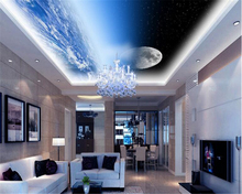 beibehang High-end fashion fantasy wall paper personality interior decoration universe sky ceiling rooftop murals 3d wallpaper