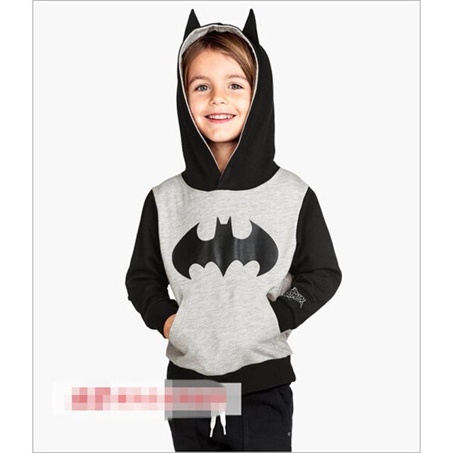 Crianças Meninos Moletom Com Capuz Casaco de 2015 Primavera Outono Crianças Marca Esportiva Casaco Manteau Garcon Batman Meninos Camisola Hoodies Batman