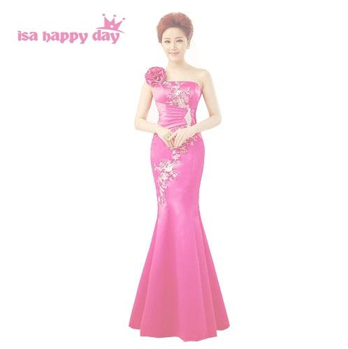 Chinese Red Dress Long Mermaid Bridesmaid Event Bridesmaids Dress Gown Bride Maid Dresses To Party For Weddings 2019 B2415