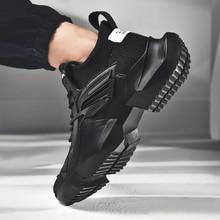 Running Shoes for Man Sneakers Sports Black White Men Comfortable Walking Brand
