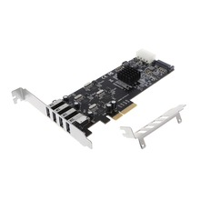 New PCIE Card To USB 3.0 20Gbps 4X 5Gbps Channel Controller Adapter Standard Size