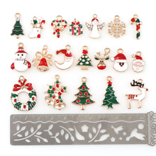 50pc Metal Alloy Christmas Decorations For Home Merry Charm Decor Snowflake Xmas Decoration Pendant Gift