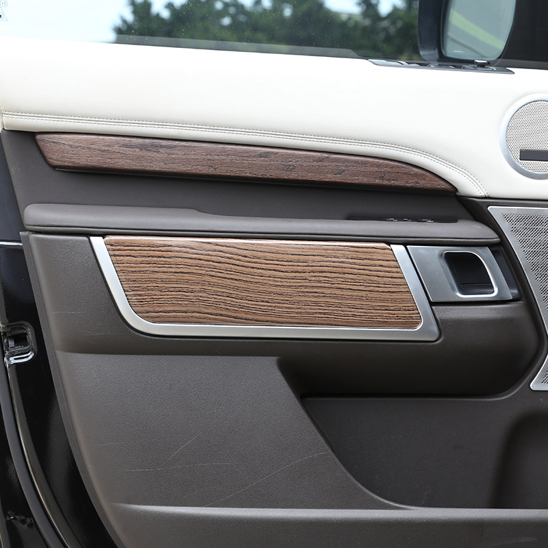 2018 Land Rover Discovery Interior: 4x Sands Wood Grain Interior Door Cover Trim For Land
