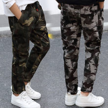 Casual Kids Boy Camo Cargo Trousers Camouflage Jeans High Quality Boys Denim Pants 4-13 Years