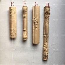 Pernas de móveis europeus, gabinete coluna, coluna de móveis de madeira maciça, penteadeira postes de canto (A756)