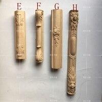 European Furniture Legs Cabinet Column Solid Wood Furniture Column Dressing Table Corner Posts A756