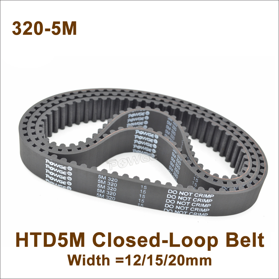 HTD5M 2525//2600 Synchronous Wheel Close Loop Timing Pulley Belt 20//25mm Width