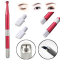 Permanent Makeup Embroidery Eyebrow Tattoo Set/Kit Manual Alloy Pen+2pcs Needles For No Scab Fog Microblading Eyebrow Tattooing
