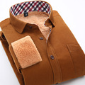 New Arrival Men Spring Winter Warm Flannel Shirt Brand Design Dress Shirt Men Camisas Thick Men Velvet Casual Shirts nswt3009