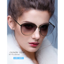 MIZHO 2020 New Luxury Brand Design Lady Oval Rimless Sunglasses Women Cutting Le