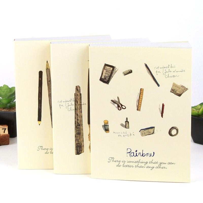 Blank Paper Sketchbook Diary A4 Paiting Drawing Graffiti Ske