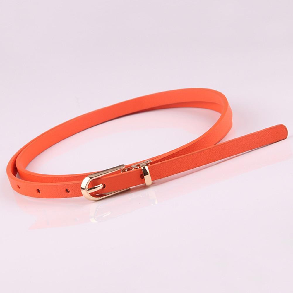 Casual Slim Fashion Women   Belt   Wear Resistant Pin Buckle PU Leather Tie Decorative Lightweight Adjsutable Fastening All Match