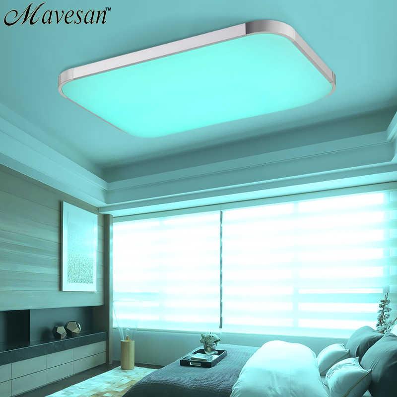Современные светодио дный потолочные светильники светодио дный лампы для гостиной спальня 90-260 В диммер площади заподлицо потолочный светильник plafondlamp детская комната