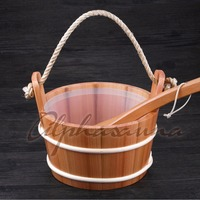 Free Shipping Core Grip 4L Red Cedar Bucket And Ladle Combined With Portable Insert Wholesaler Sauna