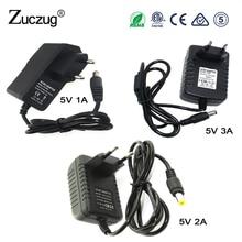 Adapter power  DC 5 V 1A 2A 3A Adaptor for RGB light  100-240V Charger Supply DC 5V EU US Plug For Led Strip Switch все цены