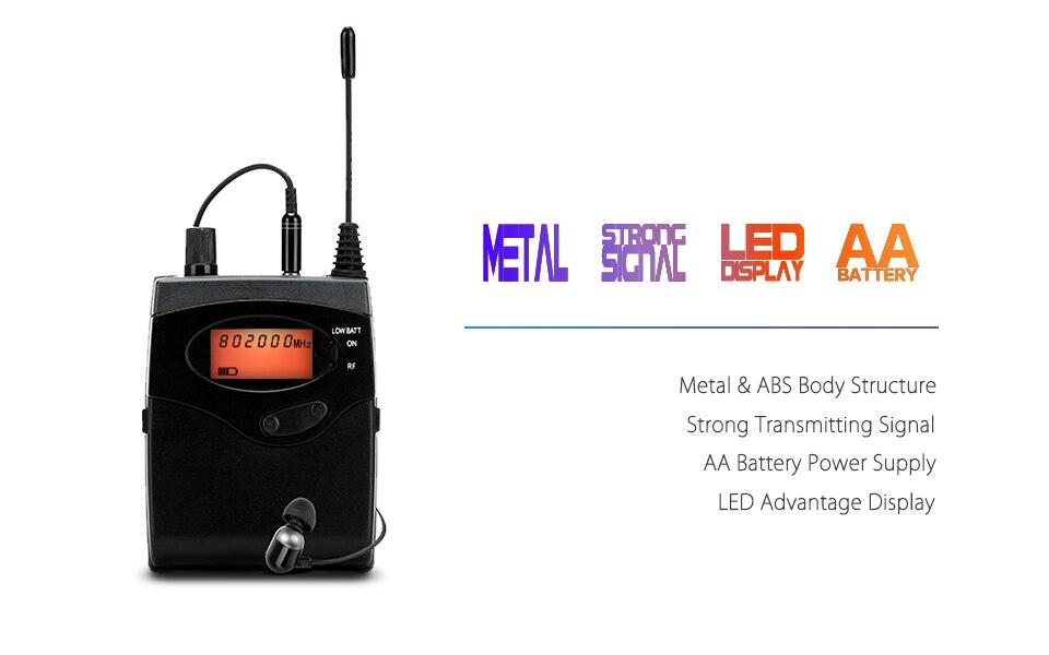 YUEPU RU-530 беспроводной монитор в ухо система беспроводной мониторинг Профессиональный одноканальный передатчик персональная сценическая производительность
