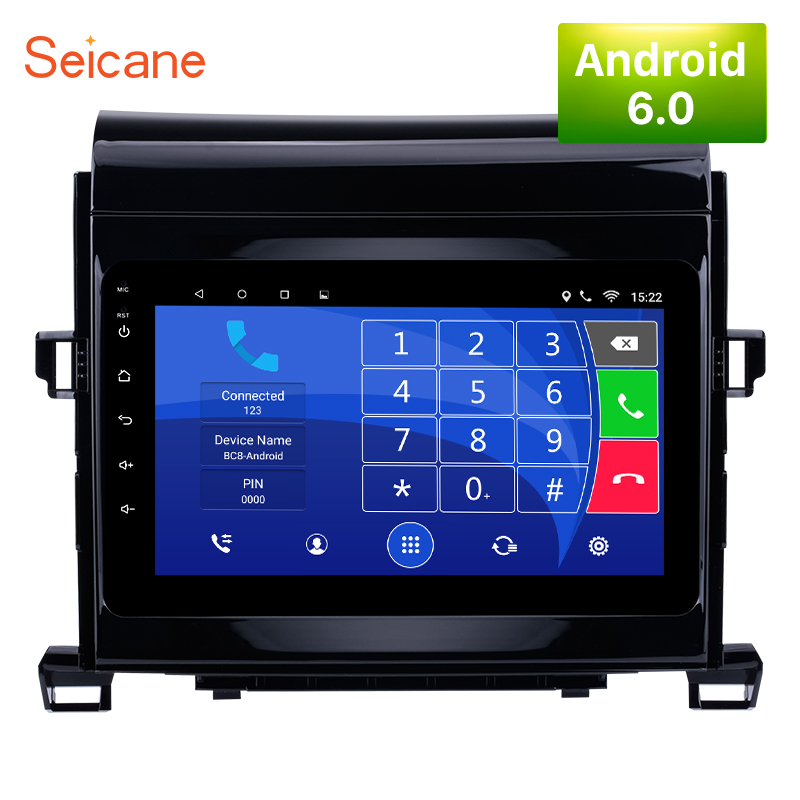 Seicane Android 7.1/6.0 Quad-core Car Radio Unit Player GPS Navi for 2008-2014 Toyota ALPHARD/Vellfire With 8 inch HD 1024*600 seicane 2 din 10 1 android 7 1 android 6 0 quad core car radio gps navi stereo unit player for 2014 2015 hyundai ix25 creta