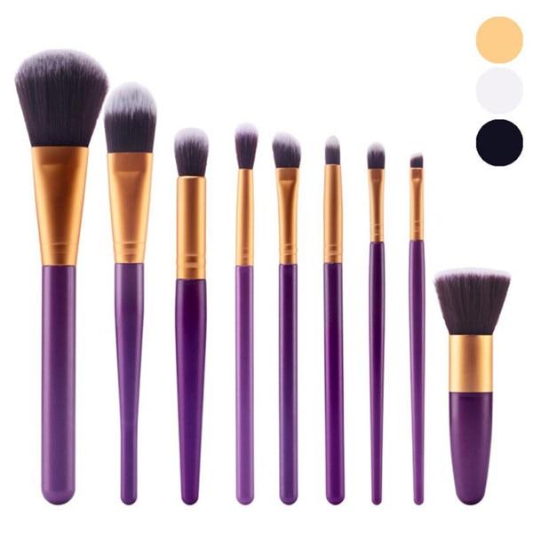 9PcsSet Foundation Eye Shadow Makeup Brushes Eyeliner Powder Blush Brush Tools Soft Professional Cosmetic Brush