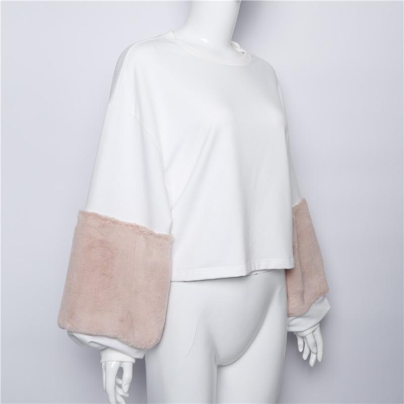 HTB1IpkESXXXXXawXXXXq6xXFXXXE - FREE SHIPPING Women Faux Fur Crop Hoodies Sweatshirt Tumblr Oversize Pink JKP282