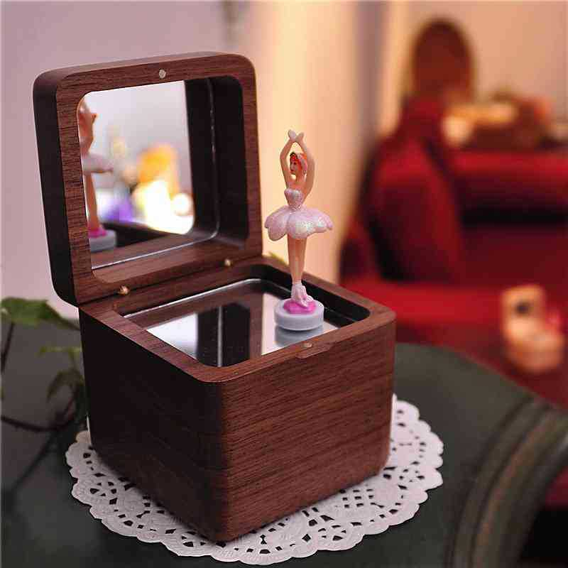 Ballerina Wood Music Box Happy Birthday Castle In The Sky Music Jewellery Boxes Mechanism Gifts Girlfriend Baby Christmas Gift