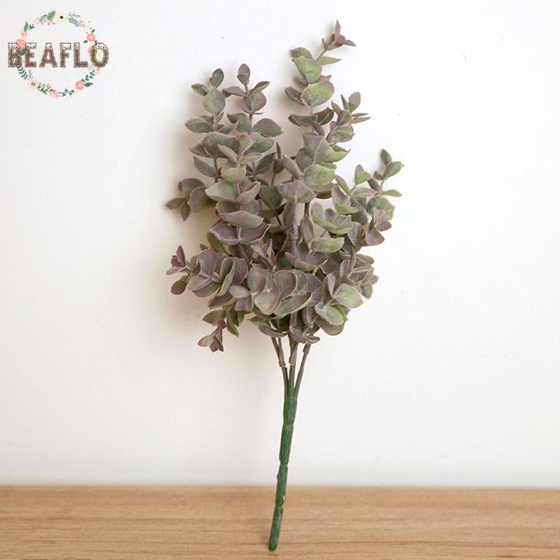1pc plastic bladeren kunstmatige plant voor bruiloft decoratie diy - Feestversiering en feestartikelen - Foto 2