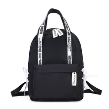 Menghuo Large Capacity Backpack Women Preppy School Bags for Teenagers Female Nylon Travel Bags Girls Bowknot Backpacks Mochilas все цены