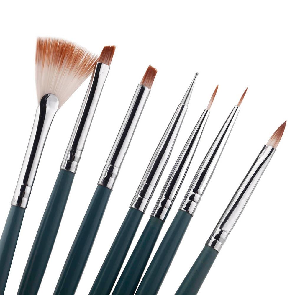 7pcs Uv Gel Pen Professional Nail Art Paint Drawing Brushes Nail Art