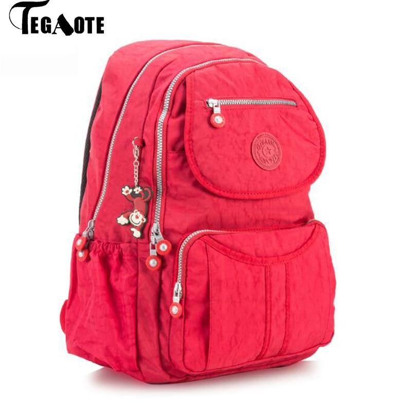 TEGAOTE School-Backpack Laptop Bagpack-Shoulder Travel Large-Capacity Women Nylon Teenage-Girls