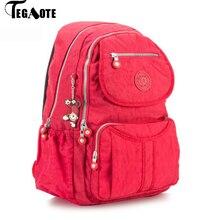 TEGAOTEกระเป๋าขนาดใหญ่กระเป๋าเป้สะพายหลังโรงเรียนสำหรับวัยรุ่นหญิงขนาดใหญ่ความจุBack Packผู้หญิงMochilaไนล่อนFashionalแล็ปท็อปBagpack 2020