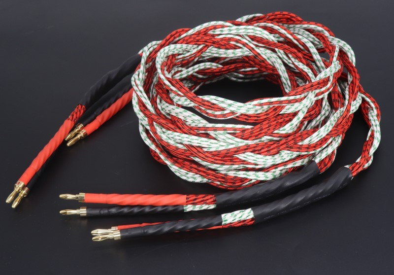 High Quality 1Pair USA Antique line speaker cable hifi speaker wire For TUBE amplifier