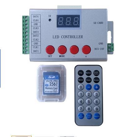 Télécommande sans fil à led, lecteur 4 ports 6144 pixels, prise en charge DMX512, WS2811, WS2812, APA102.etc. télécommande infrarouge