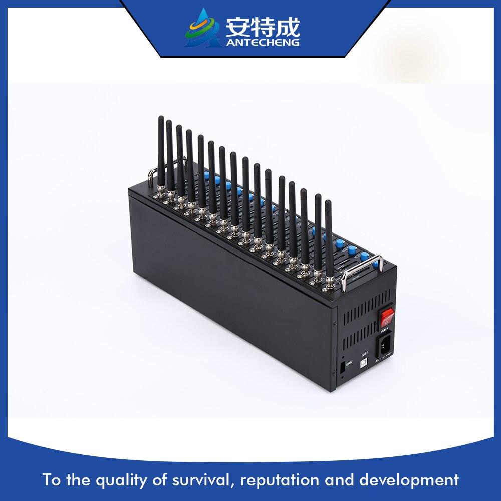 Antecheng Wavecom Q2406B 16 портов модемного пула, GSM SMS USB Multi-Sim 16 порта модема stk мобильный зарядки